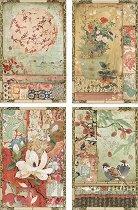 Декупажна хартия - Японски картички - Формат А4