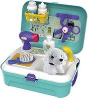Салон за домашни любимци - Детски комплект с аксесоари в куфарче -