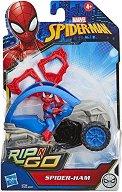"""Кола за каскади - Детски комплект за игра с аксесоари от серията """"Спайдърмен"""" -"""