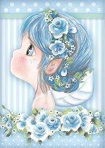 Декупажна хартия - Синя фея - Формат А4
