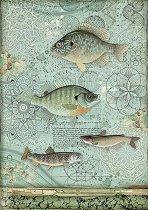 Декупажна хартия - Риби - Формат А4