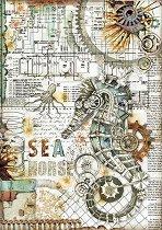 Декупажна хартия - Морско конче - Формат А4