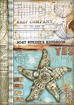 Декупажна хартия - Морска звезда - Формат А4