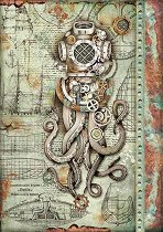 Декупажна хартия - Октопод - Формат А4