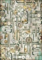 Декупажна хартия - Тръби - Формат А4