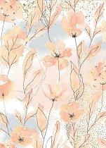 Декупажна хартия - Акварелни цветя - Формат А4
