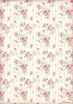Декупажна хартия - Розови рози - Формат А4