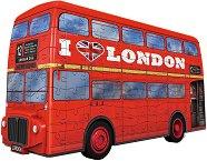 Моливник - Лондонски бус - 3D пъзел - пъзел