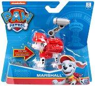 """Маршъл с костюм - Детска играчка със звукови ефекти от серията """"Пес патрул"""" - топка"""