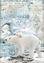 Декупажна хартия - Полярни мечки
