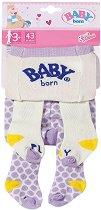 """Чорапогащник за кукла бебе - Play - Комплект от 2 броя от серията """"Baby Born"""" -"""
