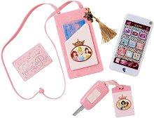 """Смартфон със звукови и светлинни ефекти - Комплект играчки от серията """"Принцесите на Дисни"""" -"""