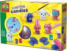 Създай сама - Блестящи свещи - Творчески комплект -