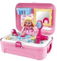 Салон за красота - Детски комплект с аксесоари в куфарче -