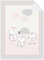 Бебешко двулицево одеяло - Pingui Family - С размери 80 x 110 cm -