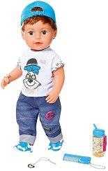 "Бебе - Момченце - Интерактивна кукла с аксесоари от серията ""Baby Born"" -"