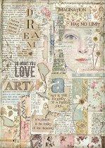 Декупажна хартия - Love Art - Формат А4