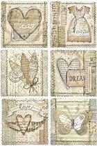 Декупажна хартия - Любовни картички - Формат А4