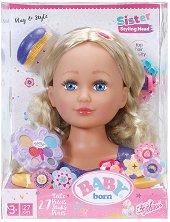 """Направи прическа и грим - Бейби Борн - Детска играчка с аксесоари от серията """"Baby Born"""" -"""