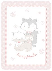 Бебешко одеяло - Funny Friends - С размери 80 x 110 cm -