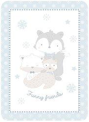 Бебешко одеяло - Funny Friends - С размери 100 x 140 cm -