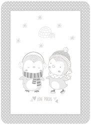 Бебешко одеяло - Love Pingus - С размери 80 x 110 cm -