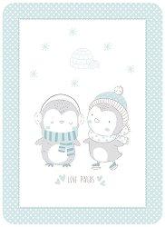 Бебешко одеяло - Love Pingus - С размери 110 x 140 cm -