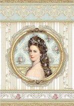 Декупажна хартия - Портрет на принцеса - Формат А4