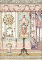 Декупажна хартия - Викториански интериор - Формат А4