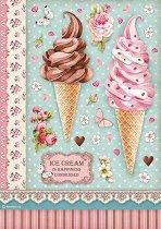 Декупажна хартия - Сладолед - Формат А4