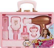 """Детски фризьорски комплект в куфарче - Комплект за игра от серията """"Принцесите на Дисни"""" -"""