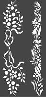 Шаблон - Коледни фризове - Размери 12 х 25 cm