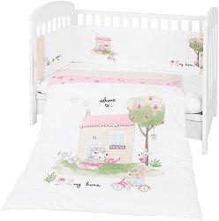 Бебешки спален комплект от 3 части с обиколник - My Home EU Style - 100% ранфорс за легла с размери 60 x 120 cm или 70 x 140 cm -