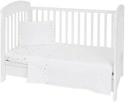 Бебешки спален комплект от 3 части - Elephant Time EU Stile - 100% ранфорс за матраци с размери 60 x 120 cm или 70 x 140 cm -