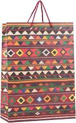 Матова подаръчна торбичка - Черга - С размери 33 / 46 / 14 cm -