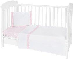 Бебешки спален комплект от 3 части - Day In Paris EU Stile - 100% ранфорс за матраци с размери 60 x 120 cm или 70 x 140 cm -