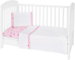 Бебешки спален комплект от 3 части - My Home EU Stile - 100% ранфорс за матраци с размери 60 x 120 cm или 70 x 140 cm -