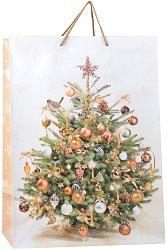 Гланцирана подаръчна торбичка - Весела Коледа - продукт