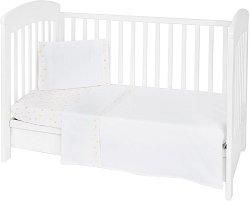 Бебешки спален комплект от 3 части - Rabbits In Love EU Stile - 100% ранфорс за матраци с размери 60 x 120 cm или 70 x 140 cm -