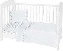 Бебешки спален комплект от 3 части - The Fish Panda EU Stile - 100% ранфорс за матраци с размери 60 x 120 cm или 70 x 140 cm -