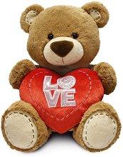 Мече със сърчице - Love - Плюшена играчка -