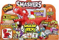 """Хищен динозавър Рекс - Детска играчка със звукови ефекти от серията """"Dino Smashers"""" -"""