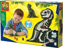 Направи сам - Светещ макет на динозавър - образователен комплект