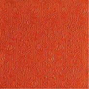 Салфетки за декупаж - Бароков релеф в оранжев цвят - Пакет от 20 броя