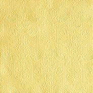 Салфетки за декупаж - Бароков релеф в цвят ванилия - Пакет от 20 броя