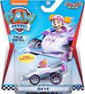 """Скай в спортен автомобил - Детска метална играчка от серията """"Пес патрул"""" -"""