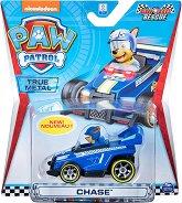 """Чейс в спортен автомобил - Детска метална играчка от серията """"Пес патрул"""" - играчка"""