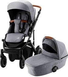 Бебешка количка 2 в 1 - Smile III Essential - С 4 колела -