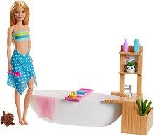 """Релаксираща вана с мехурчета - Детски комплект за игра от серията """"Barbie"""" -"""