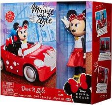 """Мини Маус с мини купър - Комплект детски играчки от серията """"Мики Маус"""" - пъзел"""